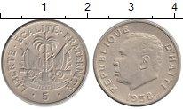 Изображение Монеты Гаити 5 центов 1958 Медно-никель XF-