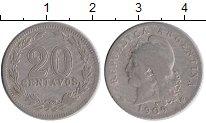 Изображение Монеты Аргентина 20 сентаво 1909 Медно-никель XF