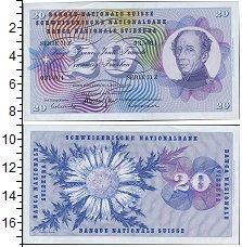 Банкнота Швейцария 20 франков 1970 UNC