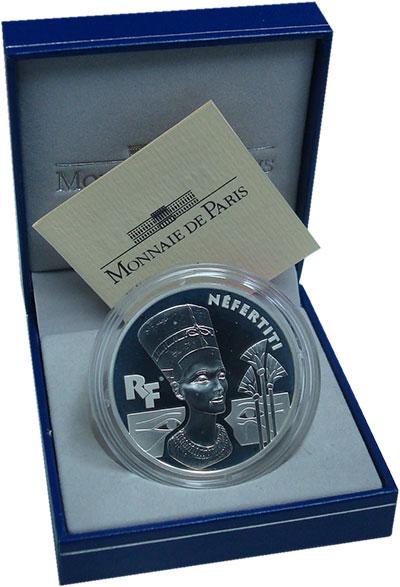 Изображение Монеты Франция 10 франков 1998 Серебро Proof Нефертити.<br>Ориги