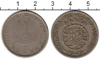 Изображение Монеты Кабо-Верде 1 эскудо 1949 Медно-никель XF