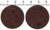 Изображение Монеты Тунис 10 сантим 1908 Бронза XF