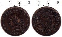Изображение Монеты Аргентина 2 сентаво 1891 Медь XF
