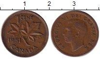 Изображение Монеты Канада 1 цент 1951 Бронза XF