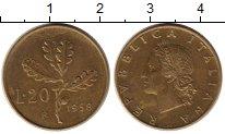Изображение Монеты Италия 20 лир 1958 Латунь XF