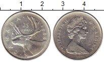 Изображение Монеты Канада 25 центов 1966 Серебро XF