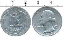Монета США 1/4 доллара Серебро 1943 XF-