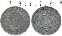 Изображение Монеты Боливия 50 сентаво 1902 Серебро XF