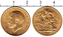 Изображение Монеты Индия 1 соверен 1918 Золото UNC