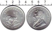 Монета ЮАР 1 крюгерранд Серебро 2019 UNC