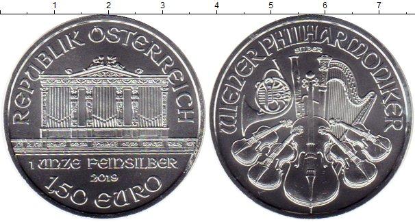 Картинка Монеты Австрия 1 1/2 евро Серебро 2019