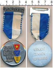 Изображение Монеты Швейцария Медаль 1972 Медно-никель UNC-