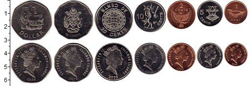 Изображение Наборы монет Соломоновы острова 50 пенсов 0  UNC Елизавета II.  В наб