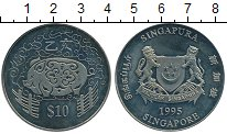 Изображение Монеты Сингапур 10 долларов 1995 Медно-никель UNC