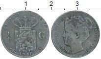 Изображение Монеты Нидерланды Кюрасао 1/4 гульдена 1900 Серебро VF