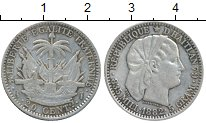 Изображение Монеты Гаити 20 сантим 1882 Серебро XF-