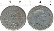 Изображение Монеты Малайзия Саравак 10 центов 1934 Медно-никель XF
