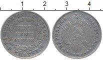 Изображение Монеты Боливия 20 сентаво 1883 Серебро XF