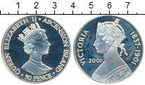 Изображение Монеты Великобритания Остров Вознесения 50 пенсов 2001 Серебро Proof-