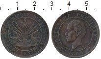 Изображение Монеты Гаити 20 сантим 1863 Медь XF-