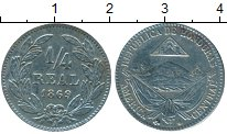 Изображение Монеты Гондурас 1/4 реала 1869 Медно-никель XF
