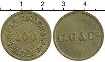 Изображение Монеты Португалия Мадейра 100 рейс 0 Латунь XF