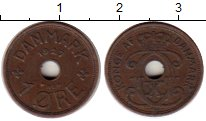 Изображение Монеты Дания 1 эре 1927 Бронза XF
