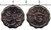 Изображение Монеты Свазиленд 5 центов 2007 Медно-никель UNC