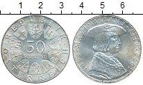 Монета Австрия 50 шиллингов Серебро 1969 UNC-