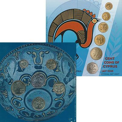 Изображение Подарочные монеты Кипр Набор 2004 года 2004  UNC Последний набор Кипр