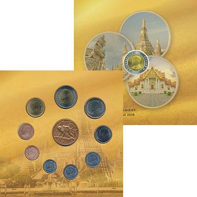 Изображение Подарочные монеты Таиланд Набор 2016 года 2016  UNC В набор входят девят