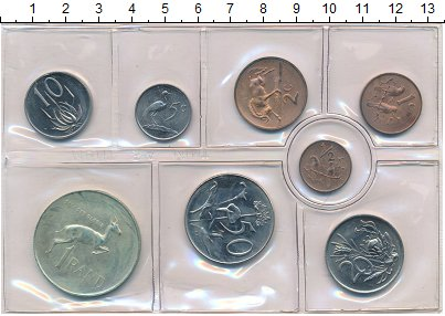 Изображение Наборы монет ЮАР Набор монет 1971 года 1971  UNC- Набор из восьми моне