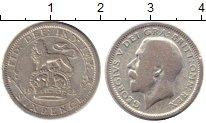 Изображение Монеты Великобритания 6 пенсов 1925 Серебро VF