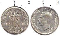 Изображение Монеты Великобритания 6 пенсов 1941 Серебро XF