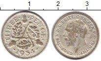 Изображение Монеты Великобритания 3 пенса 1934 Серебро VF