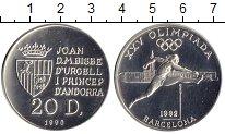 Изображение Монеты Андорра 20 динерс 1990 Серебро UNC