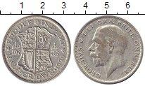 Изображение Монеты Великобритания 1/2 кроны 1929 Серебро VF