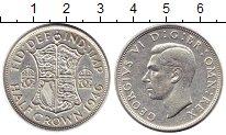 Изображение Монеты Великобритания 1/2 кроны 1946 Серебро VF