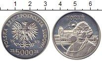 Монета Польша 5000 злотых Серебро 1989 Proof- фото