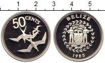 Изображение Монеты Белиз 50 центов 1985 Серебро Proof