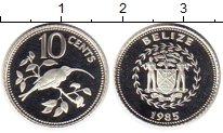Изображение Монеты Белиз 10 центов 1985 Серебро Proof