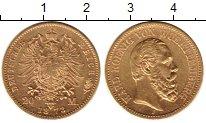 Изображение Монеты Германия Вюртемберг 20 марок 1873 Золото UNC-