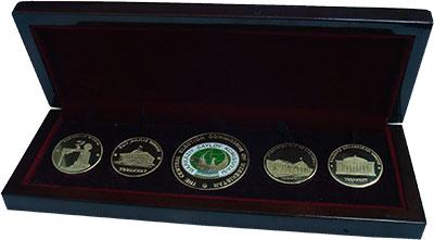 Изображение Подарочные монеты Узбекистан Главная избирательная комиссия Узбекистана 2016 Латунь UNC Набор из 5 жетонов,