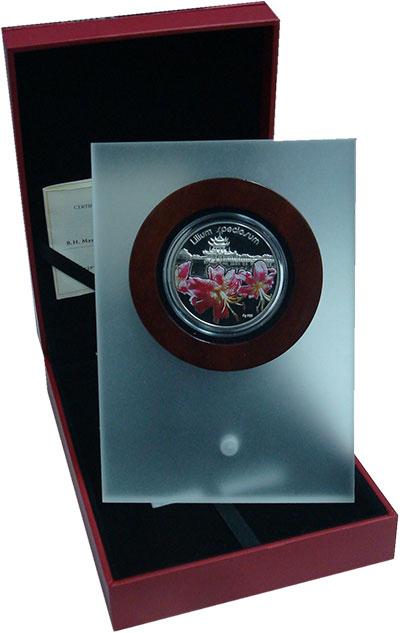Изображение Подарочные монеты Ниуэ 1 доллар 2012 Серебро Proof Серия Лилии: Лилия С