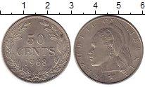 Изображение Монеты Либерия 50 центов 1968 Медно-никель XF+
