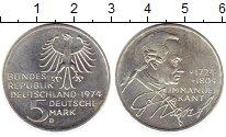 Изображение Монеты Германия ФРГ 5 марок 1974 Серебро UNC-