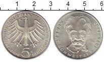Изображение Монеты ФРГ 5 марок 1975 Серебро UNC-