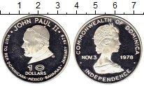 Изображение Монеты Доминиканская республика 10 долларов 1979 Серебро Proof
