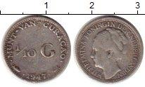 Изображение Монеты Нидерланды Кюрасао 1/10 гульдена 1947 Серебро XF