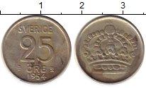 Изображение Монеты Швеция 25 эре 1954 Серебро XF
